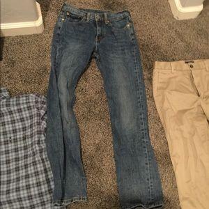 514 28 x 30 blue jeans